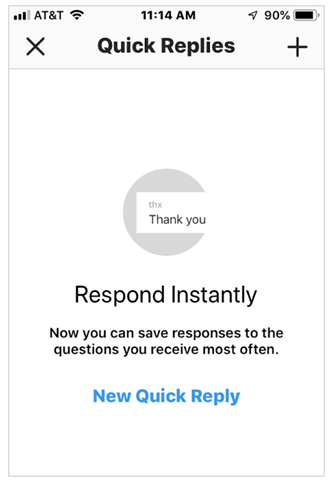 Respond to your Instagram DMS for faster and more efficient transaction